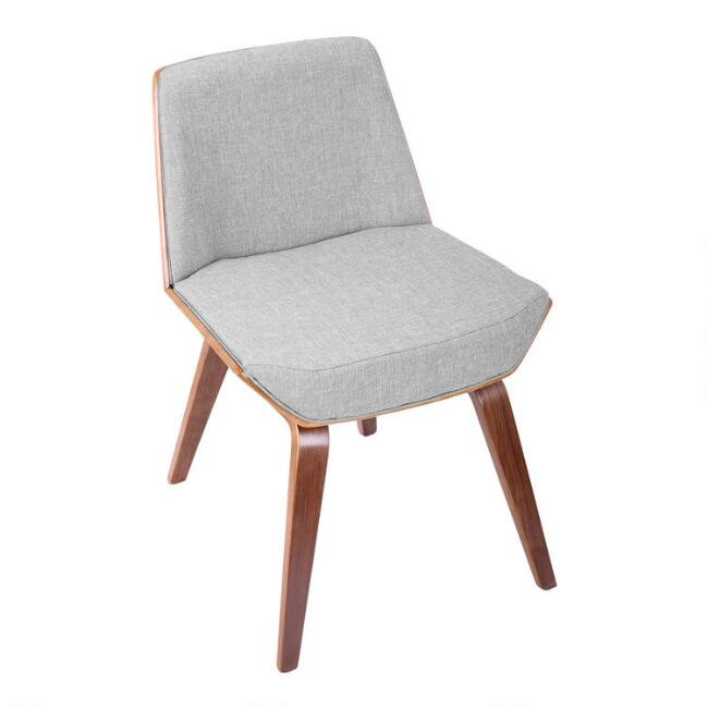 Gray Mid Century Joel Upholstered Dining Chair