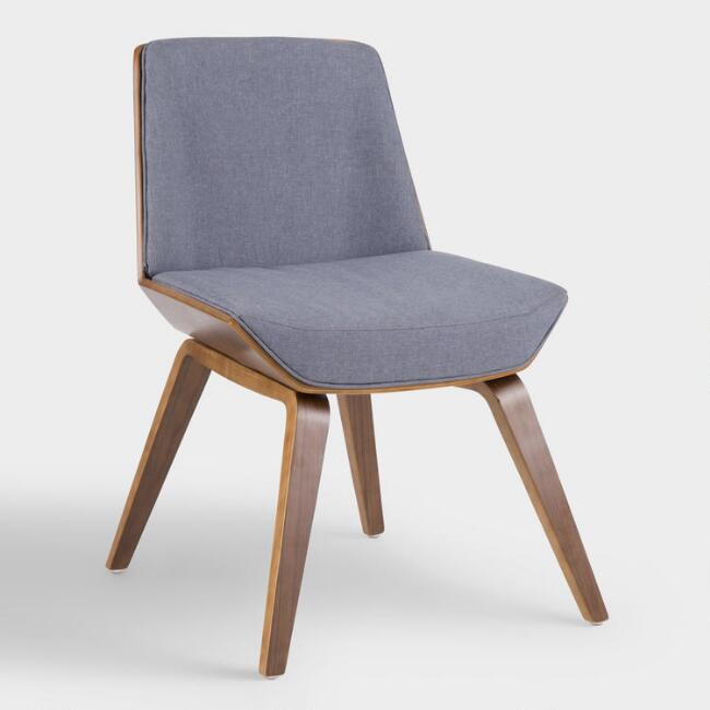 Blue Mid Century Joel Upholstered Dining Chair