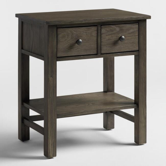 Gray Wood Cory Nightstand