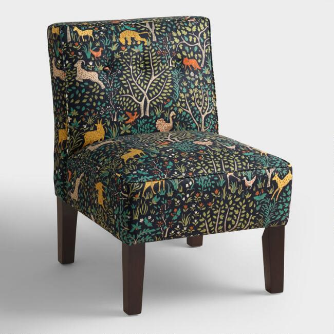 Folkland Randen Upholstered Chair with Wood Legs
