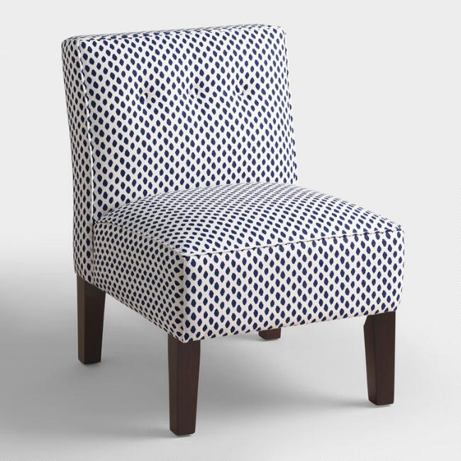 Sahara Randen Upholstered Chair with Wood Legs