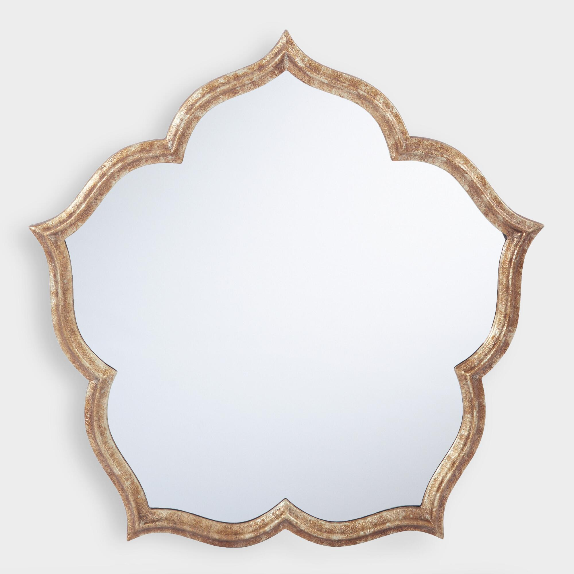 Antique Gold Blossom Mirror by World Market