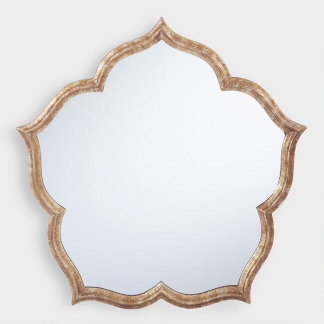 Antique Gold Blossom Mirror