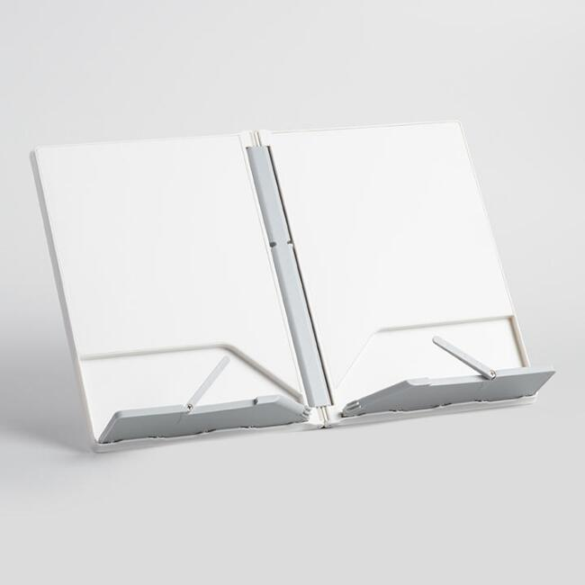 Joseph Joseph White and Gray Folding Cookbook Stand