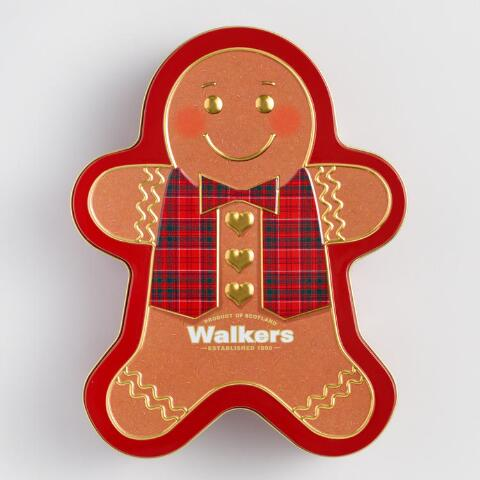 Walkers Gingerbread Man Shortbread Tin