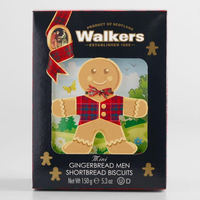Walkers Gingerbread Man Shortbread Biscuit Boxes Set of 2