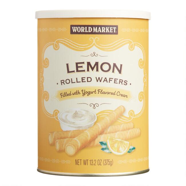World Market® Lemon Yogurt Rolled Wafer Tin