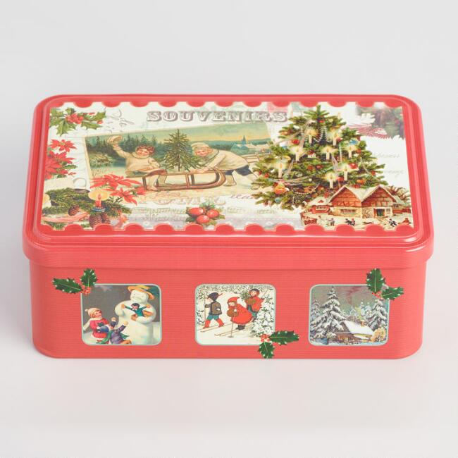 La Trinitaine Assorted Butter Biscuit Holiday Tin