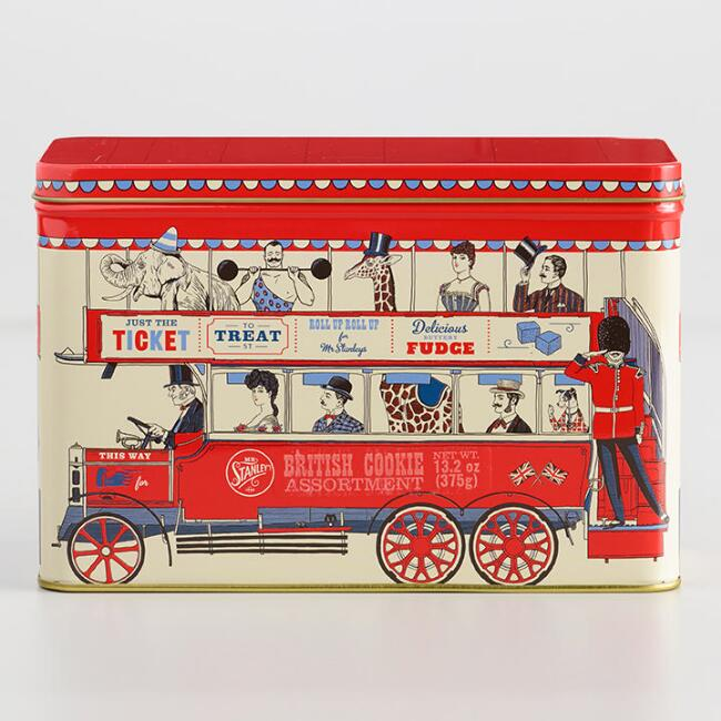 Mr. Stanley's London Bus Assorted British Biscuits Tin