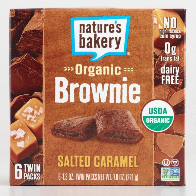 Nature's Bakery Salted Caramel Brownie Bars Set of 6