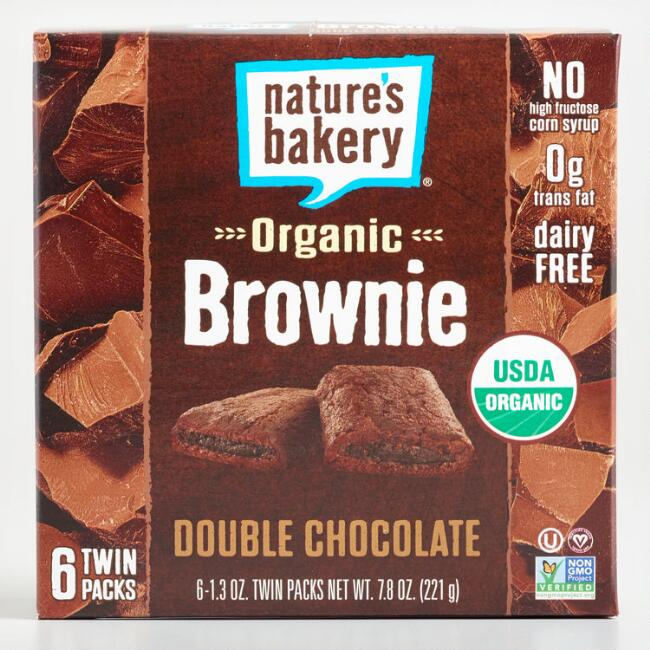 Nature's Bakery Double Chocolate Brownie Bars Set of 6