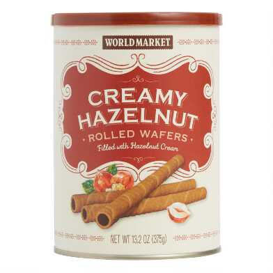 World Market® Hazelnut Cream Rolled Wafers