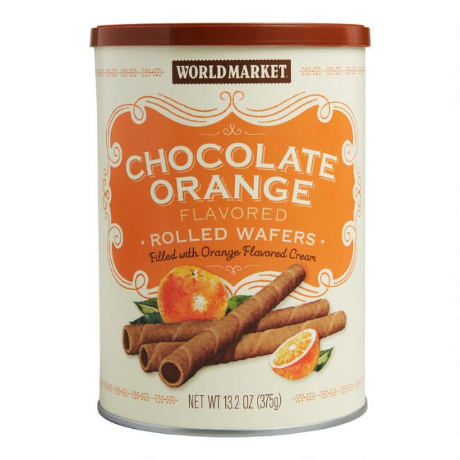 World Market® Chocolate Orange Cream Rolled Wafers