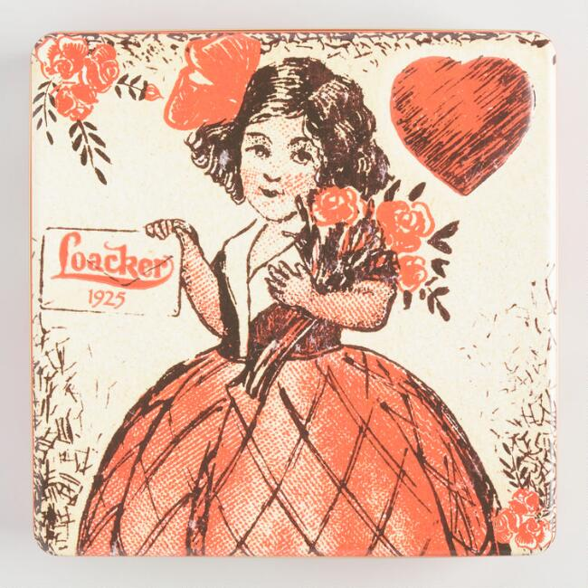 Loacker Vintage Heart Wafer Cookie Tin
