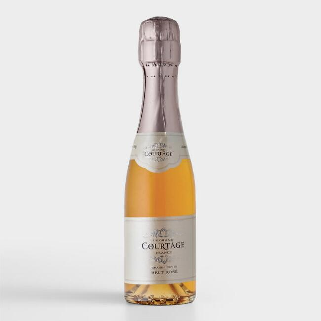 Le Grand Courtage Brut Rosé Sparkling Wine Split Bottle