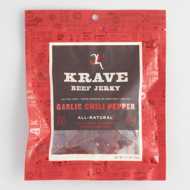 Krave Garlic Chili Pepper Beef Jerky