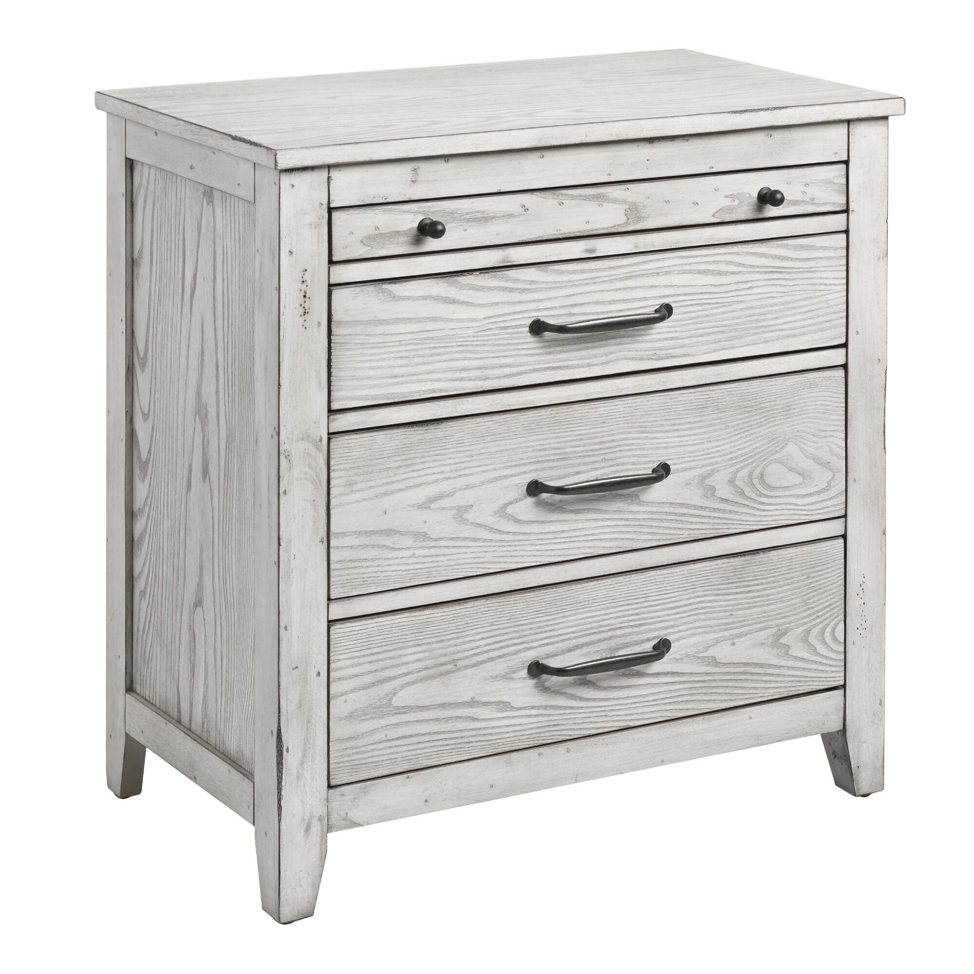 Gray mahogany wood verena nightstand