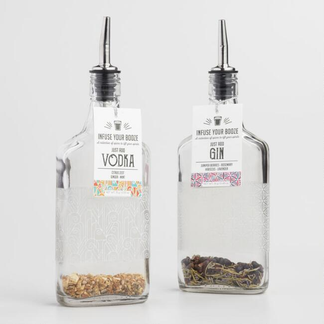 Infuse Your Booze Gin and Vodka Kit Set of 2