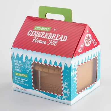 Prebuilt Gingerbread House Kit