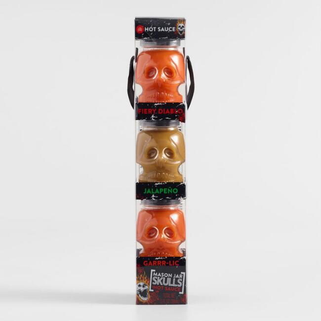 Mini Skull Hot Sauce Jars 3 pack