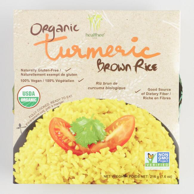 Healthee Organic Tumeric Brown Rice Set of 12
