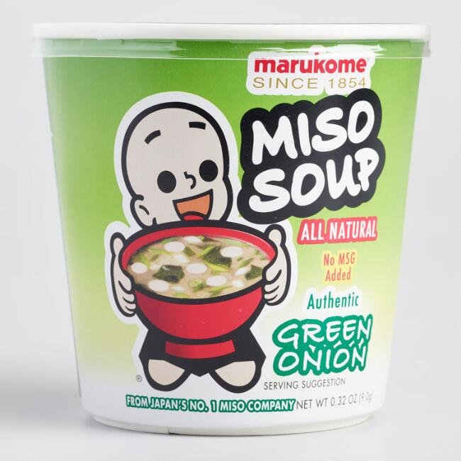 Marukome Green Onion Miso Instant Soup Set of 6