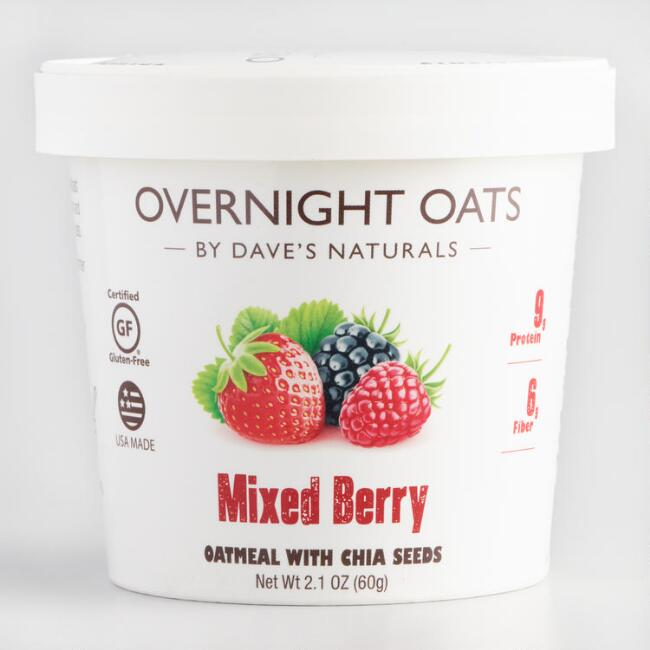 Dave's Gourmet Mixed Berry Overnight Oats Set of 8