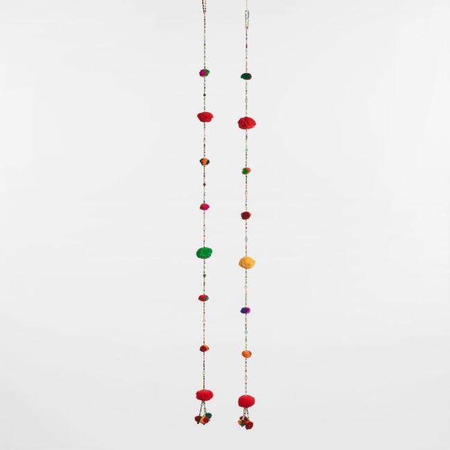 Beaded Pom Pom Garland