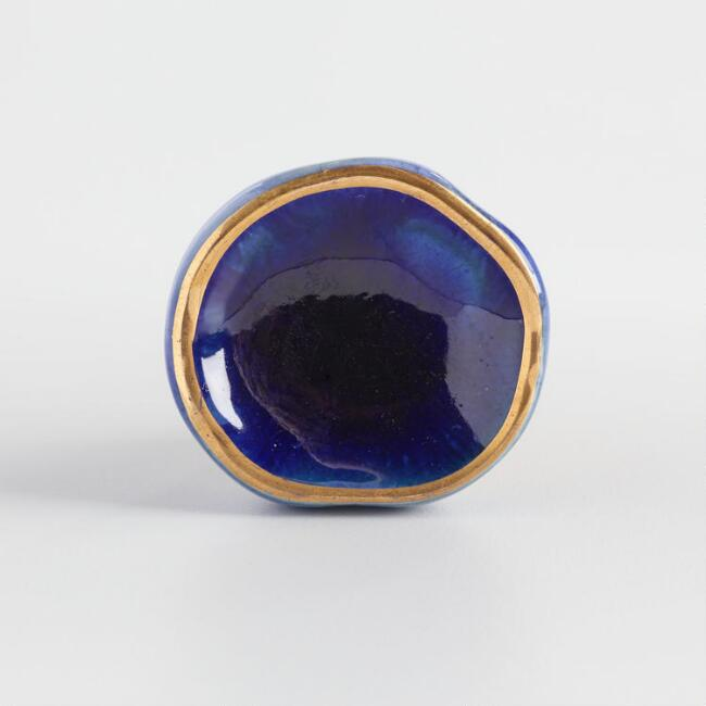 Blue Crackle Glaze Ceramic Knob