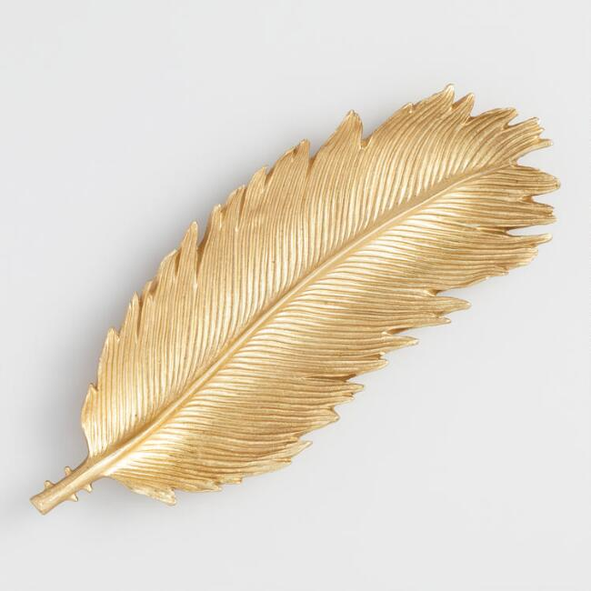 Gold Feather Decor