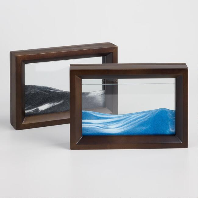 Blue and Black Sand Art Set of 2