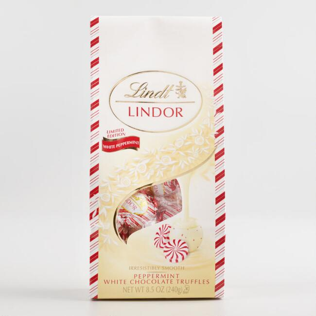 Lindt Peppermint White Chocolate Truffle Bag