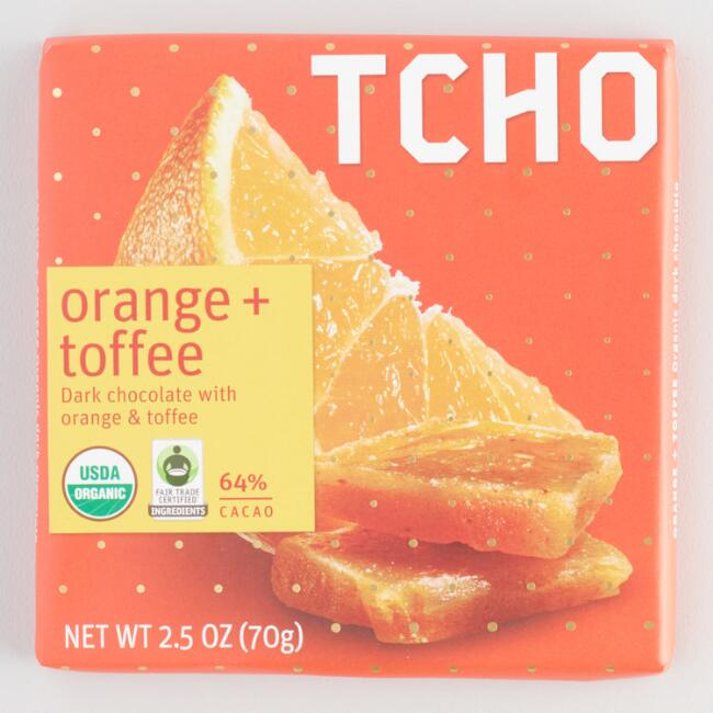 Tcho Orange Toffee Dark Chocolate Bar