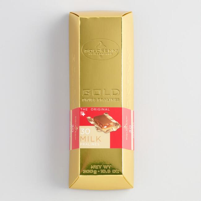 Goldkenn Milk Chocolate Praline Gold Bar