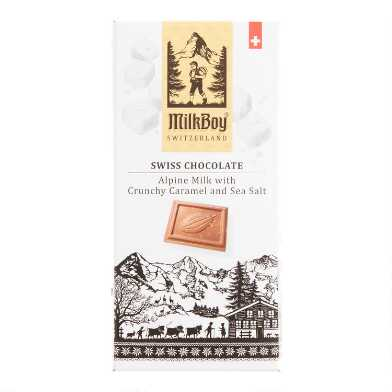 MilkBoy Sea Salt Caramel Milk Chocolate Bar