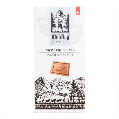 MilkBoy Swiss Alpine Milk Chocolate Bar