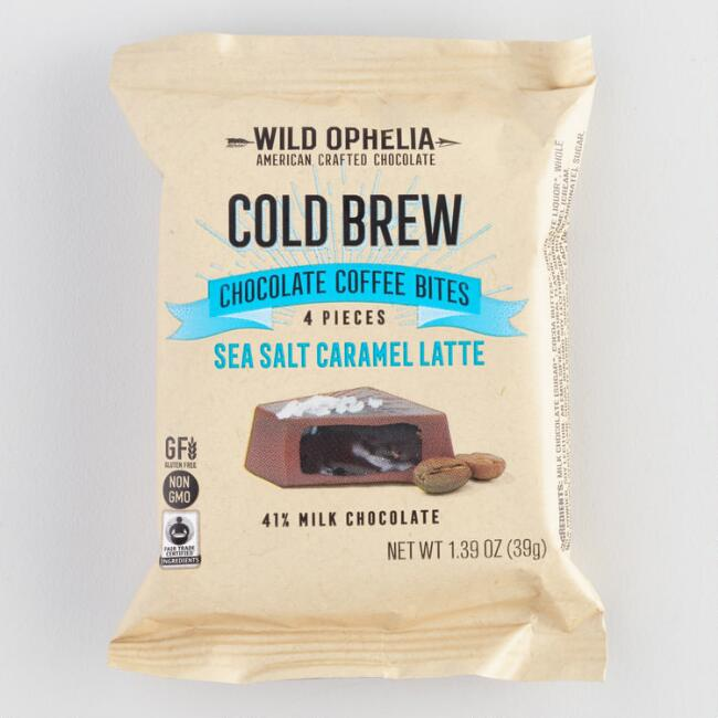 Wild Ophelia Sea Salt Caramel Latte Chocolate Bites