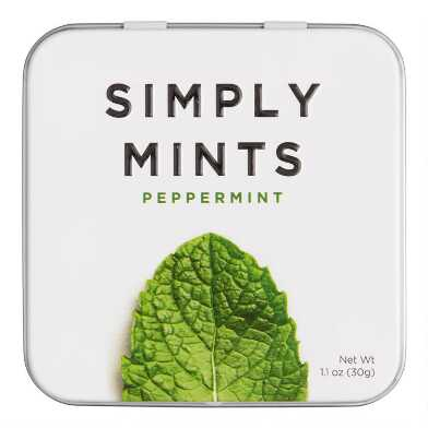 Simply Gum Peppermint Mints Set of 6