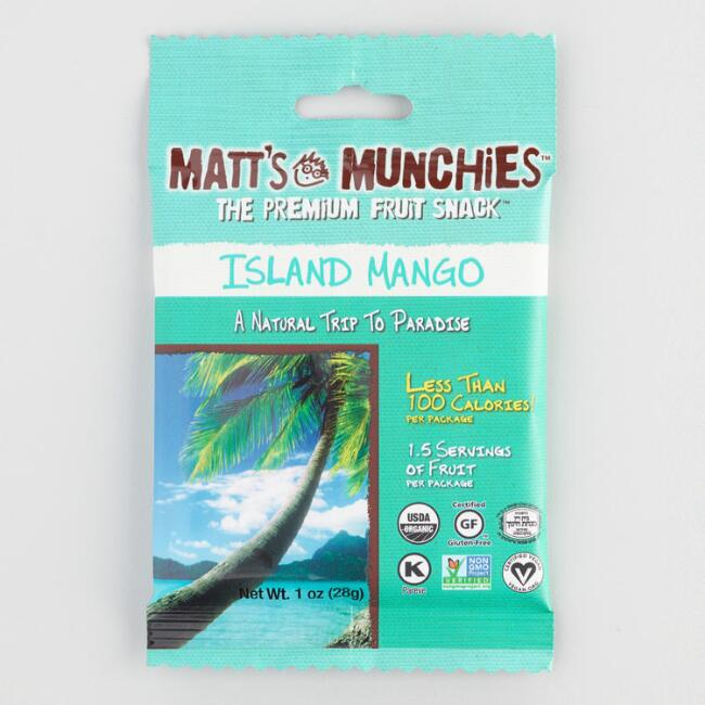 Matt's Munchies Island Mango Fruit Snacks