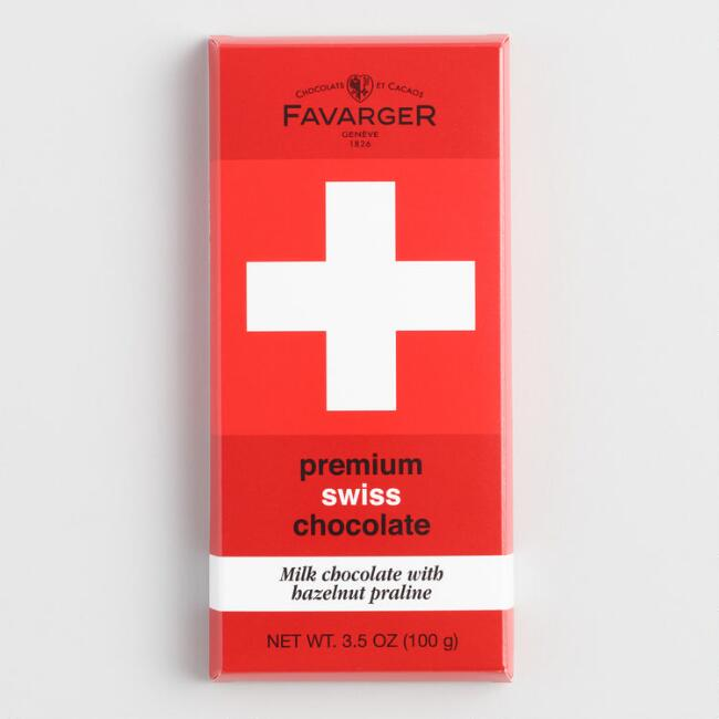 Favarger Swiss Hazelnut Milk Chocolate Bar Set of 2