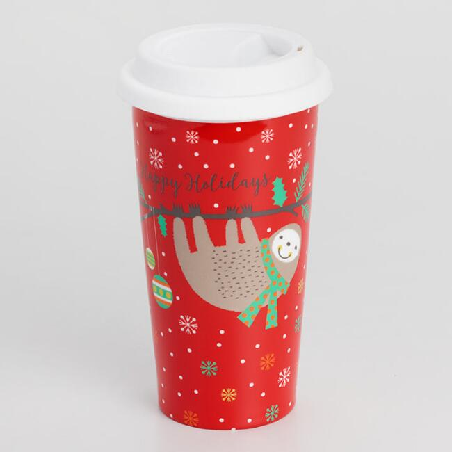 Red Merry Sloth Not a Paper Cup