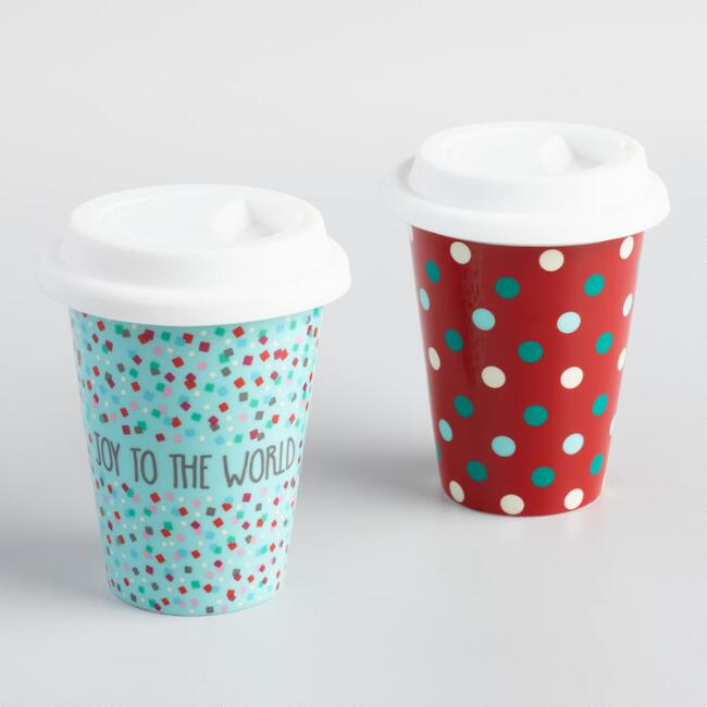 Small Holiday Not a Paper Cup Set of 2