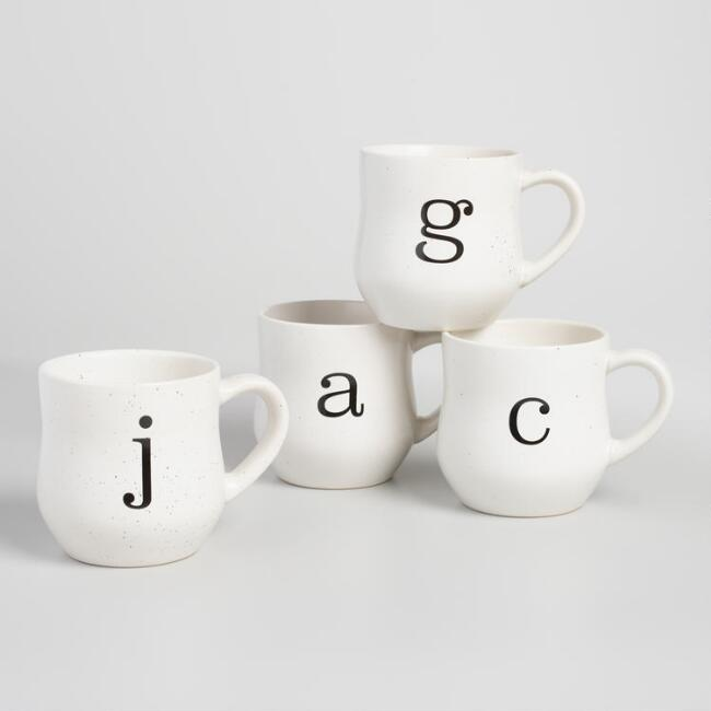 Speckled Monogram Mug