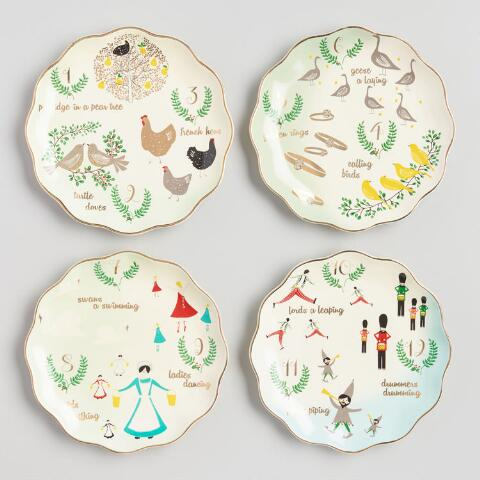 12 twelve days of christmas plates set of 4 previous v3 v1