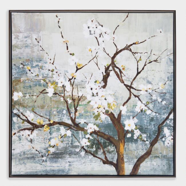 Blossom Tree Wall Art in Dark Brown Frame