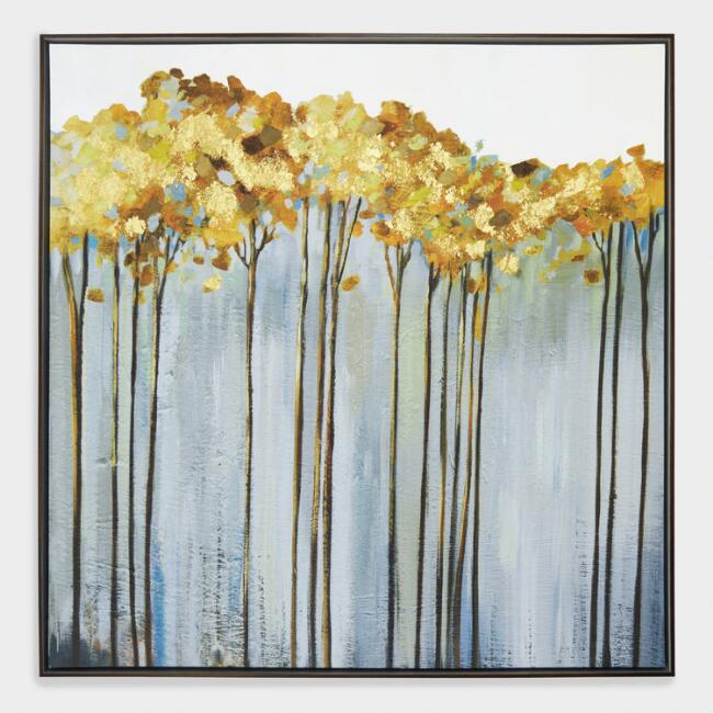 Tall Trees Wall Art in Black Frame