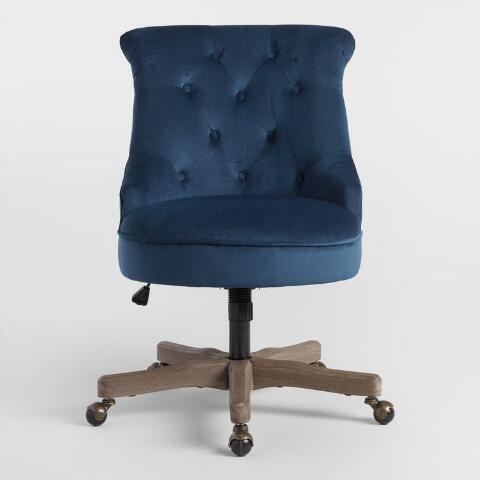 Ink Blue Elsie Upholstered Office Chair