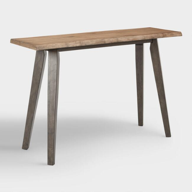 Wood And Metal Aiden Console Table: Live Edge Wood Colbie Console Table