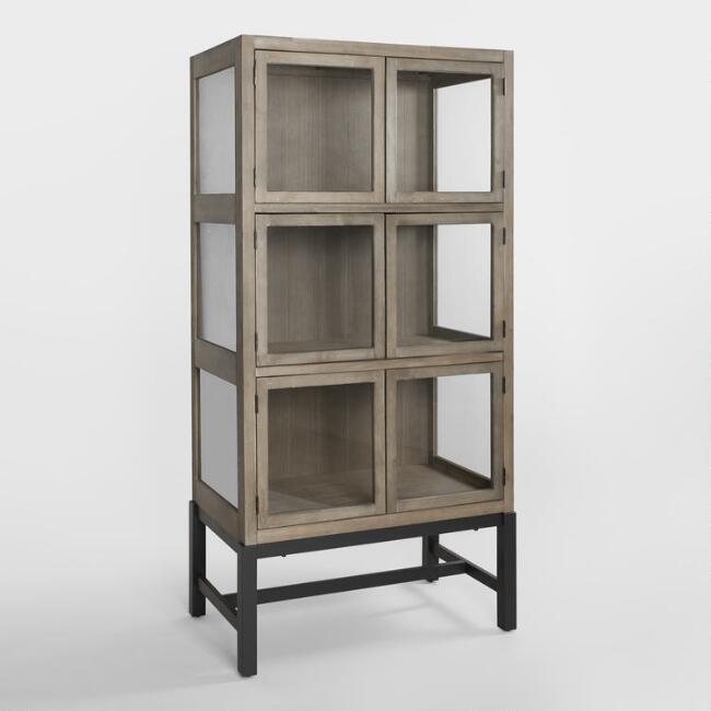 Wood And Gl Collectors Display Cabinet World Market