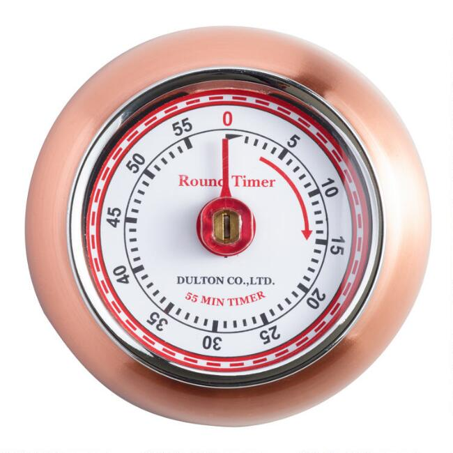 Retro Copper Magnetic Timer